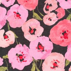 Pink Poppies in Black