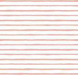 Artisan Stripe in Peony on White