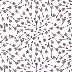 Arrows in Raisin on White
