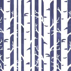 Birches in Indigo