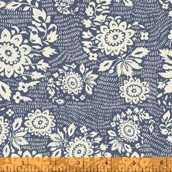 Floral Stitch in Denim