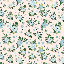 Large Blue Harbour Florals in Pink