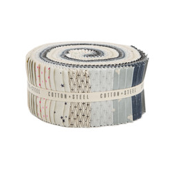 """Cotton and Steel Basics 2.5"""" Strip Roll in Neutral"""