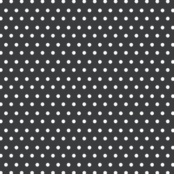 Winter Dot in White on Dark Grey
