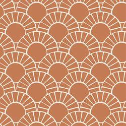 Large Mosaic Sun Tile in Copper Marigold