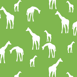 Giraffe Silhouette in Greenery