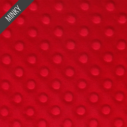 Minky Dimple Dot in Red