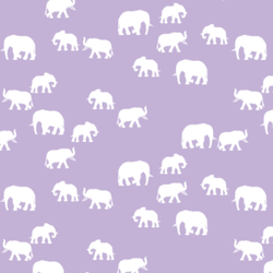 Elephant Silhouette in Lilac