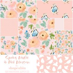 Spring Birdie Fat Quarter Bundle in Pink Blossom