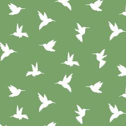 Hummingbird Silhouette in Pistachio