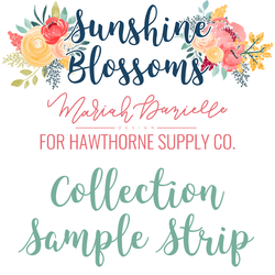 Sunshine Blossoms Sample Strip