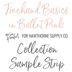 Freehand Basics Sample Strip in Ballet Pink