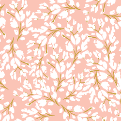 Large Frost Floral in Blush Rose
