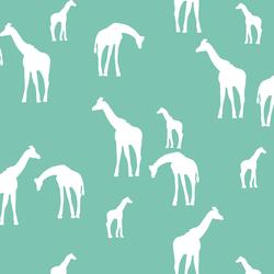 Giraffe Silhouette in Succulent