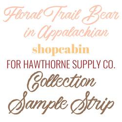Floral Trail Bear Sample Strip in Appalachian