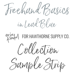 Freehand Basics Sample Strip in Lead Blue