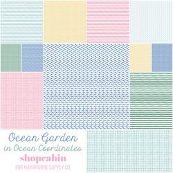 Ocean Garden Fat Quarter Bundle in Ocean Coordinates