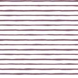 Artisan Stripe in Mulberry on White