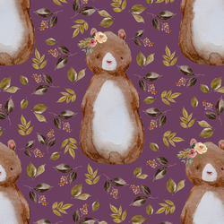Autumn Bear in Plum