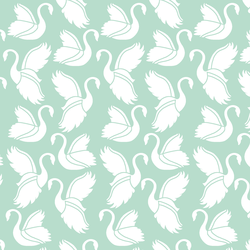Swan Silhouette in Mint