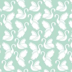 Swan Silhouette in Mint