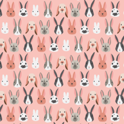 Bunny Party in Bubblegum Pink