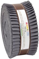 """Kona Solid 2.5"""" Strip Roll in Coal"""
