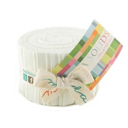 Bella Solids Junior Jelly Roll in Porcelain