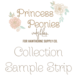 Princess Peonies Sample Strip