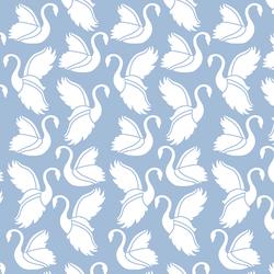 Swan Silhouette in Water
