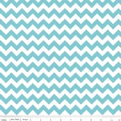 Small Chevron in Aqua