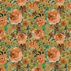 Small Copper Roses in Gold Glow