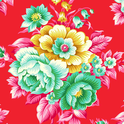 Flirty Floral in Red