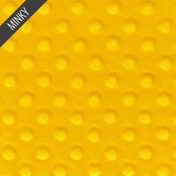 Minky Dimple Dot in Goldenrod