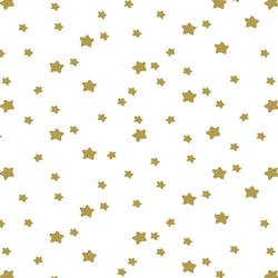 Star Light in Gold on White
