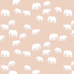 Elephant Silhouette in Shell