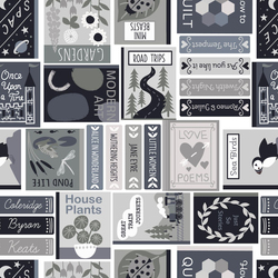 Book Covers in Grey and Black