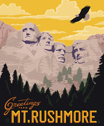 Poster Panel in Mt. Rushmore