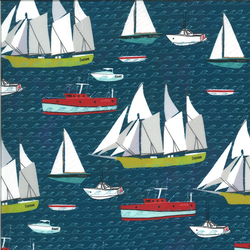 Sailboat in Sailcloth