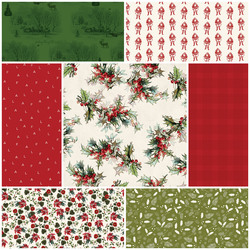 Yuletide Fat Quarter Bundle in Cream