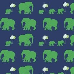 Safari Elephants in Blue