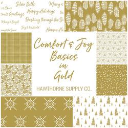 Comfort and Joy Basics Fat Quarter Bundle in Gold