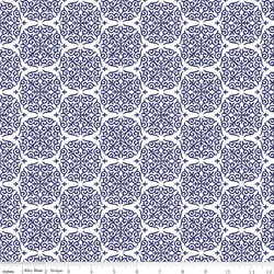 Fruitful Pleasures Damask in Navy