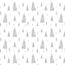 Snowy Pines in Pebble