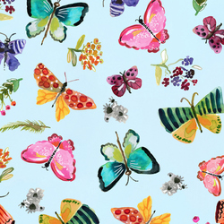 Butterflies in Aqua