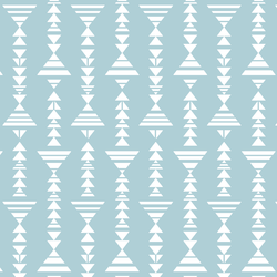 Little Tribal Stripe in Powder Blue