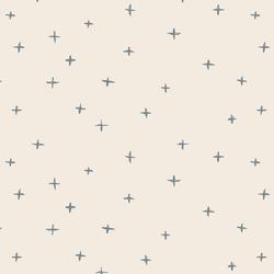 Swiss Crosses in Lead Blue on Egret
