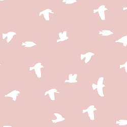 Flock Silhouette in Blush