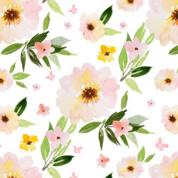 Watercolor Florals in Spring