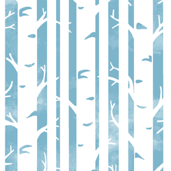 Big Birches in Surf